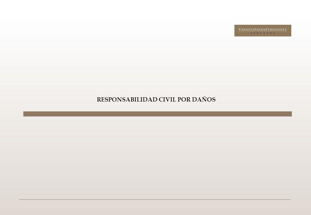 RESPONSABILIDAD CIVIL POR DAÑOS: Deberes de los administradores 4 a) Deberes generales: Cumplimiento de la Ley y de los Estatutos sociales Deberes inherentes al cargo b) Deberes específicos: Administración diligente: Ordenado empresario (sector, operación y demás circunstancias) + Información de la marcha de la sociedad Deber de lealtad: Representante leal Prohibición de utilizar el nombre de la sociedad y de invocar la condición de administrador.