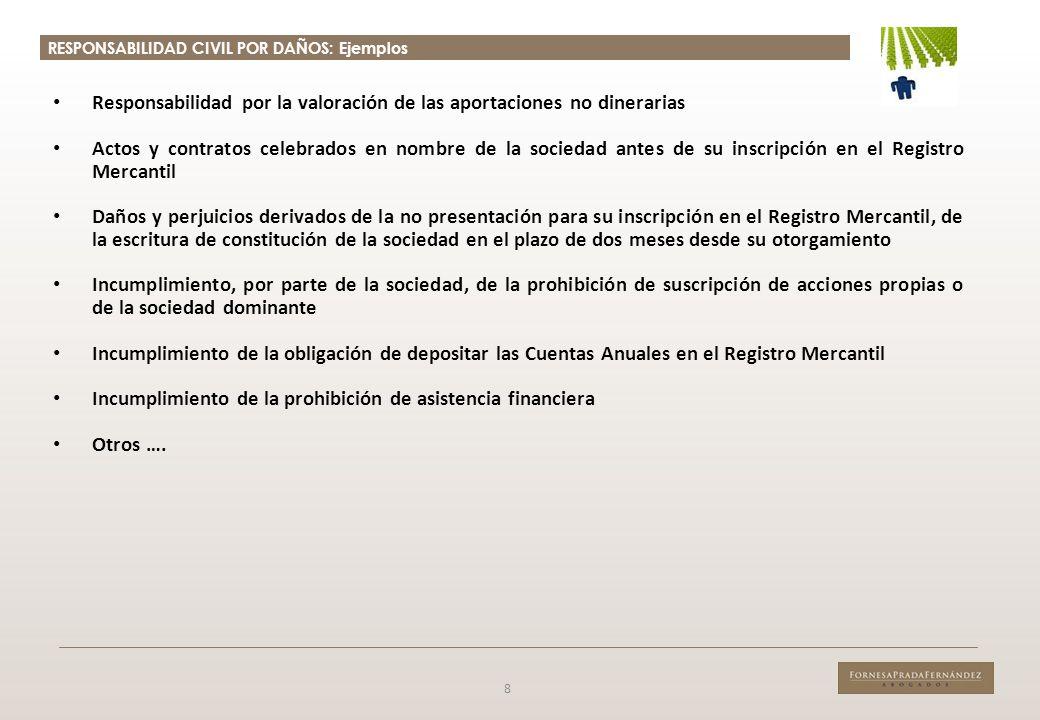 RESPONSABILIDAD CIVIL POR DAÑOS: Acción Individual 9 Relevancia práctica.