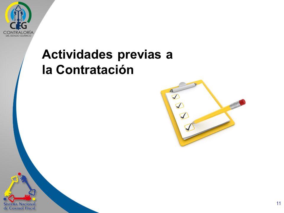 11 Actividades previas a la Contratación