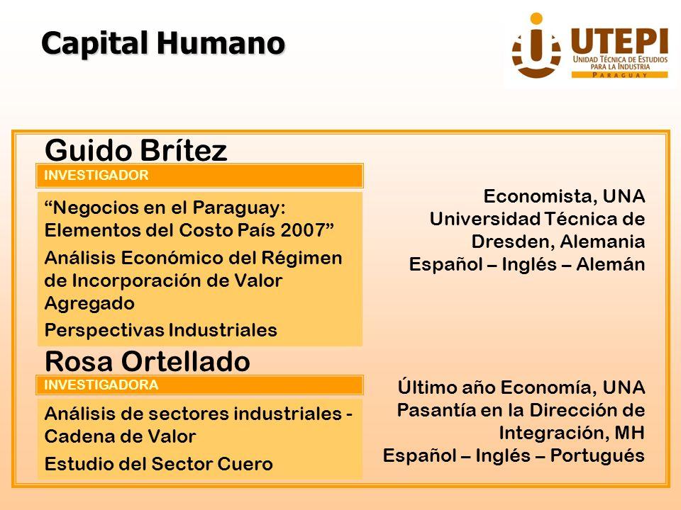 INVESTIGADOR Guido Brítez Negocios en el Paraguay: Elementos del Costo País 2007 Análisis Económico del Régimen de Incorporación de Valor Agregado Per