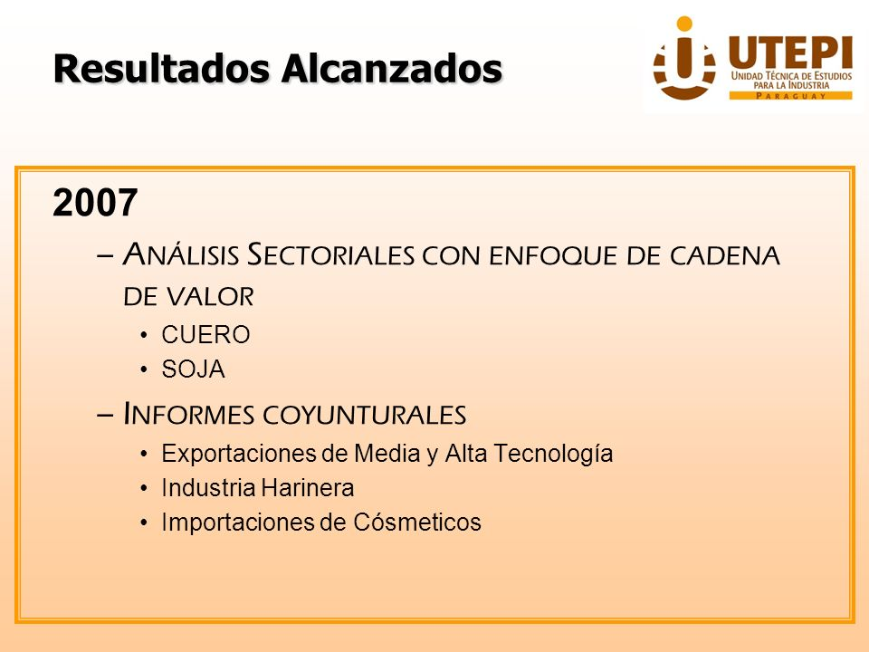 Contáctenos: Teléf.: 021 616 3092 / 4 / 5 Correo electrónico: utepi.info@mic.gov.py