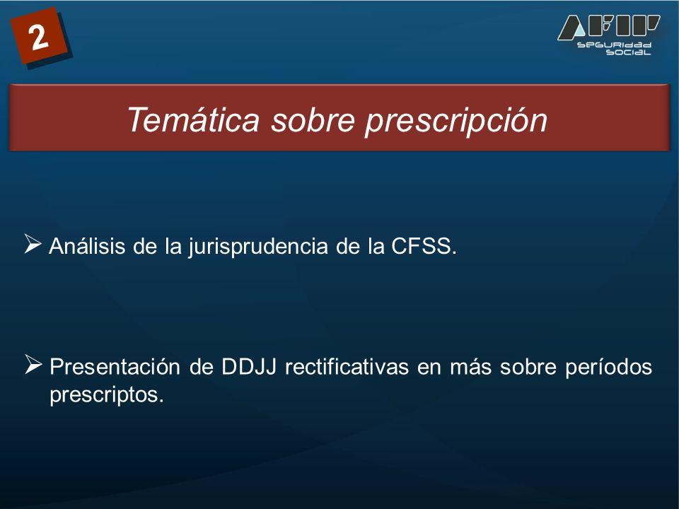2 Análisis de la jurisprudencia de la CFSS.