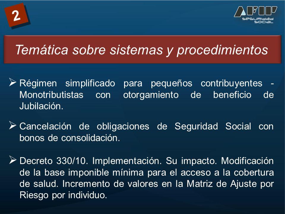 2 Cancelación de obligaciones de Seguridad Social con bonos de consolidación.
