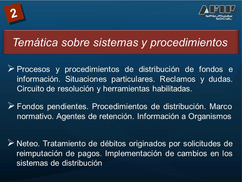 2 Fondos pendientes. Procedimientos de distribución.