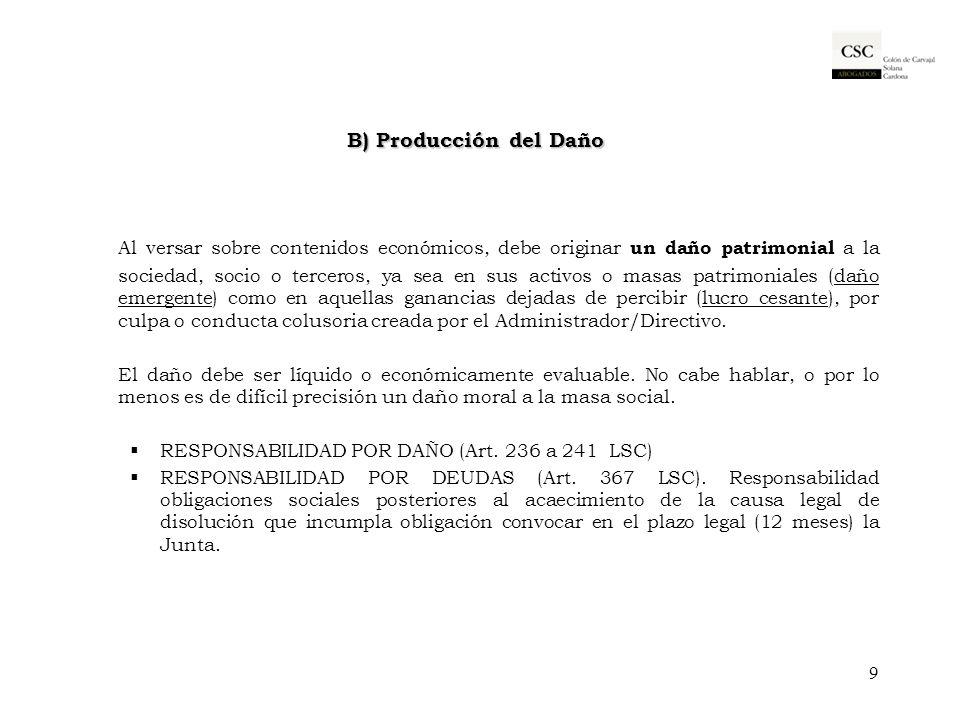 C) Acciones declarativas de responsabilidad 1.- acción social de responsabilidad (Art.