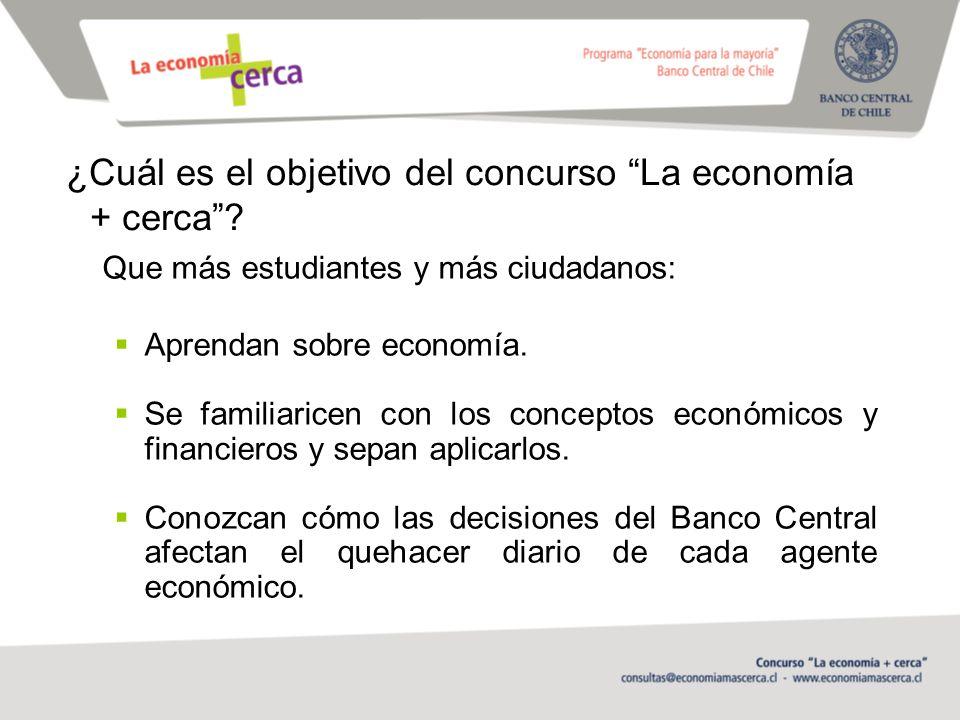 ¿Cuál es el objetivo del concurso La economía + cerca.