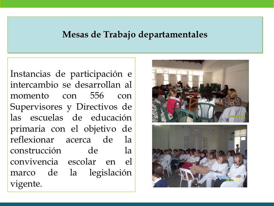 Instancias de participación e intercambio se desarrollan al momento con 556 con Supervisores y Directivos de las escuelas de educación primaria con el
