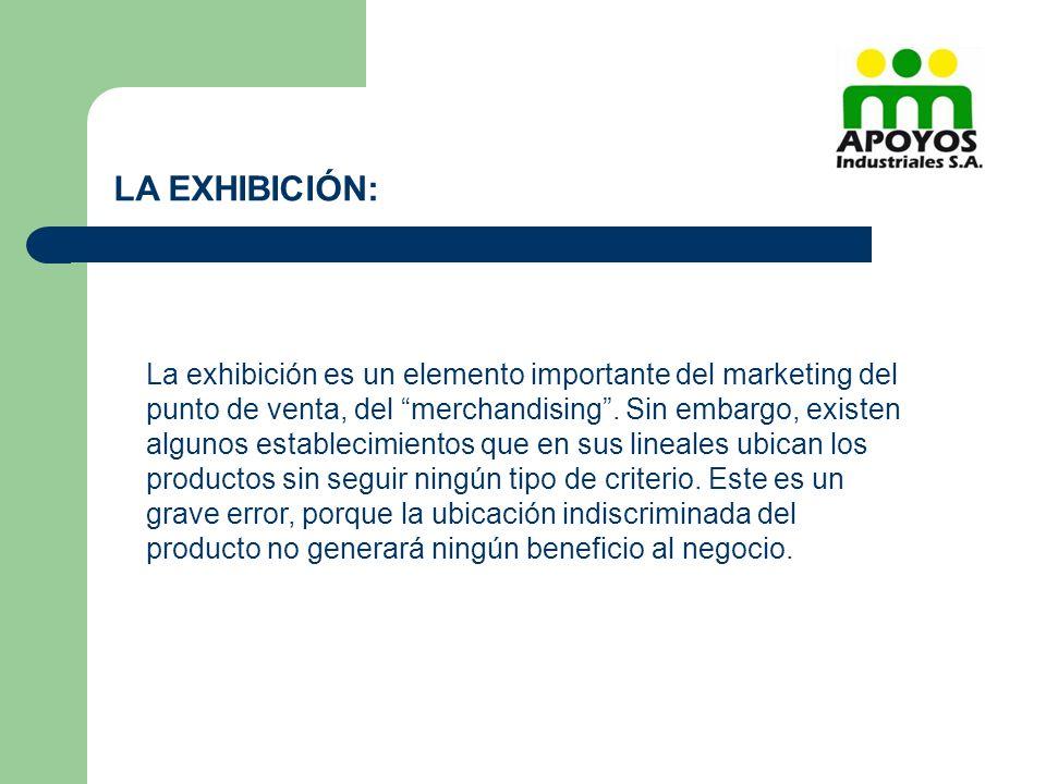La exhibición es un elemento importante del marketing del punto de venta, del merchandising. Sin embargo, existen algunos establecimientos que en sus