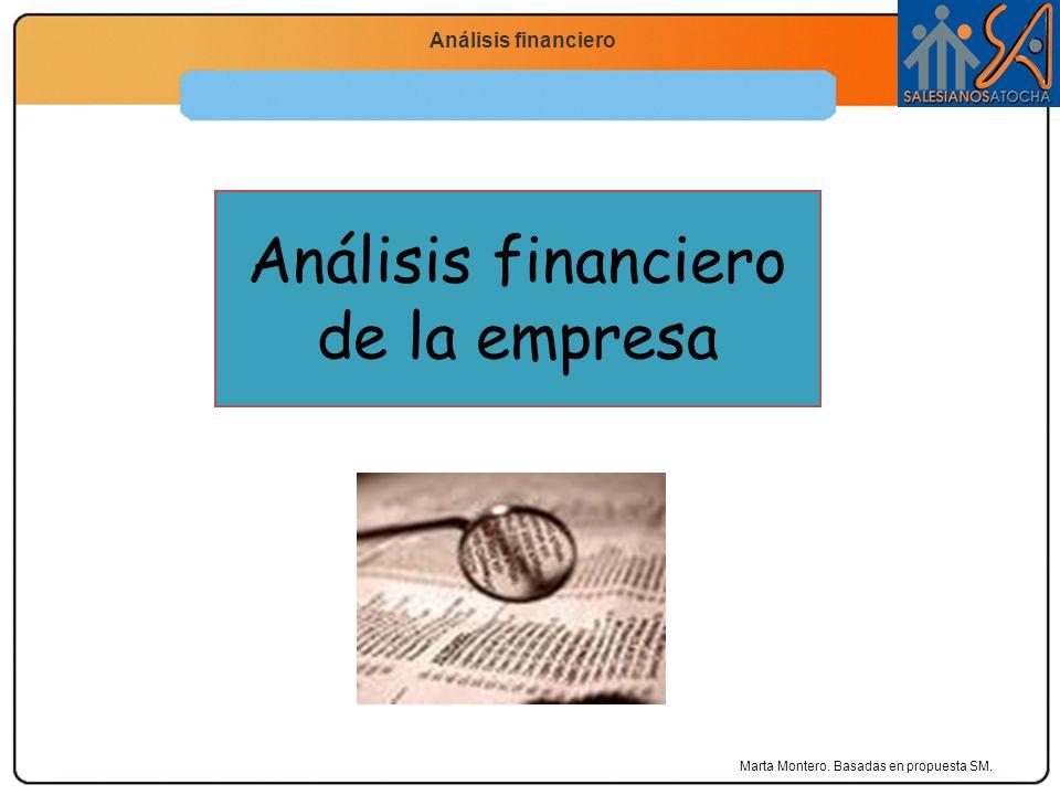 Economía 2.º Bachillerato La función productiva Análisis financiero de la empresa Marta Montero. Basadas en propuesta SM.