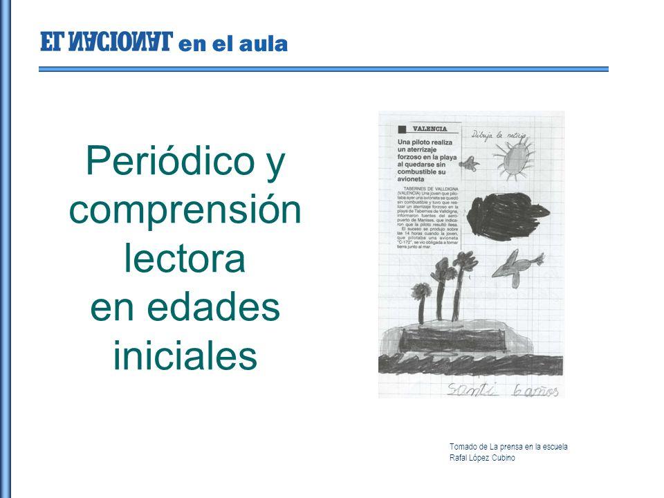 en el aula Periódico y comprensión lectora en edades iniciales Tomado de La prensa en la escuela Rafal López Cubino