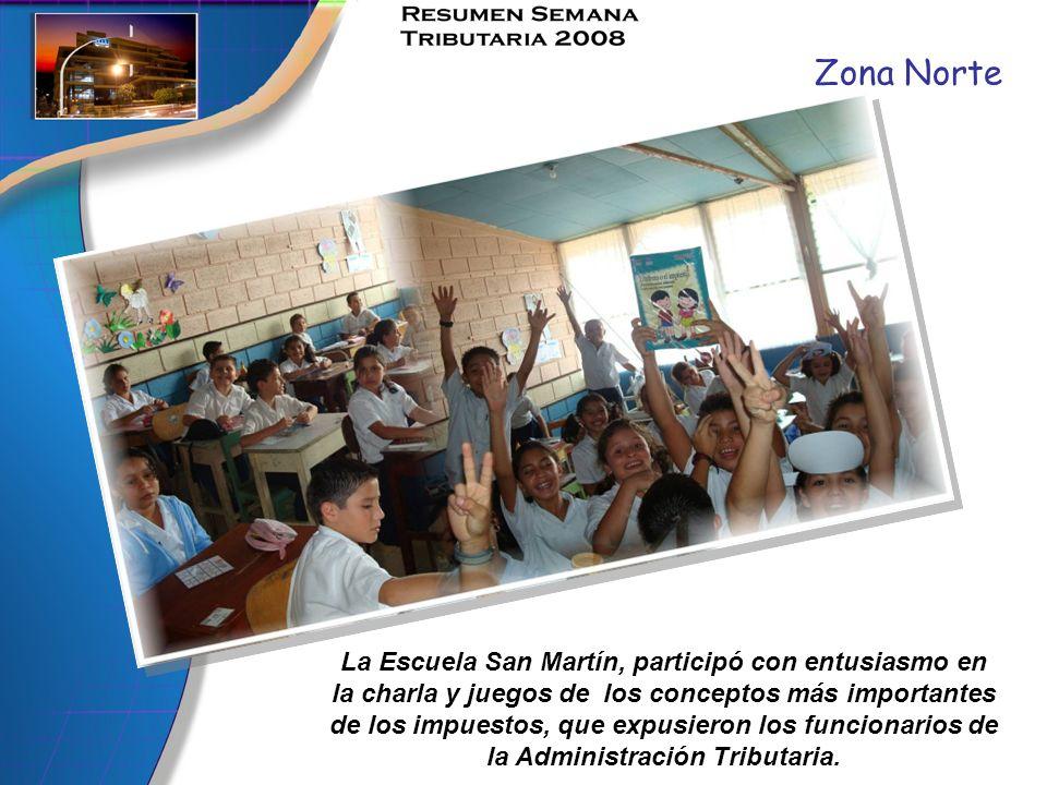 Zona Norte La Escuela San Martín, participó con entusiasmo en la charla y juegos de los conceptos más importantes de los impuestos, que expusieron los