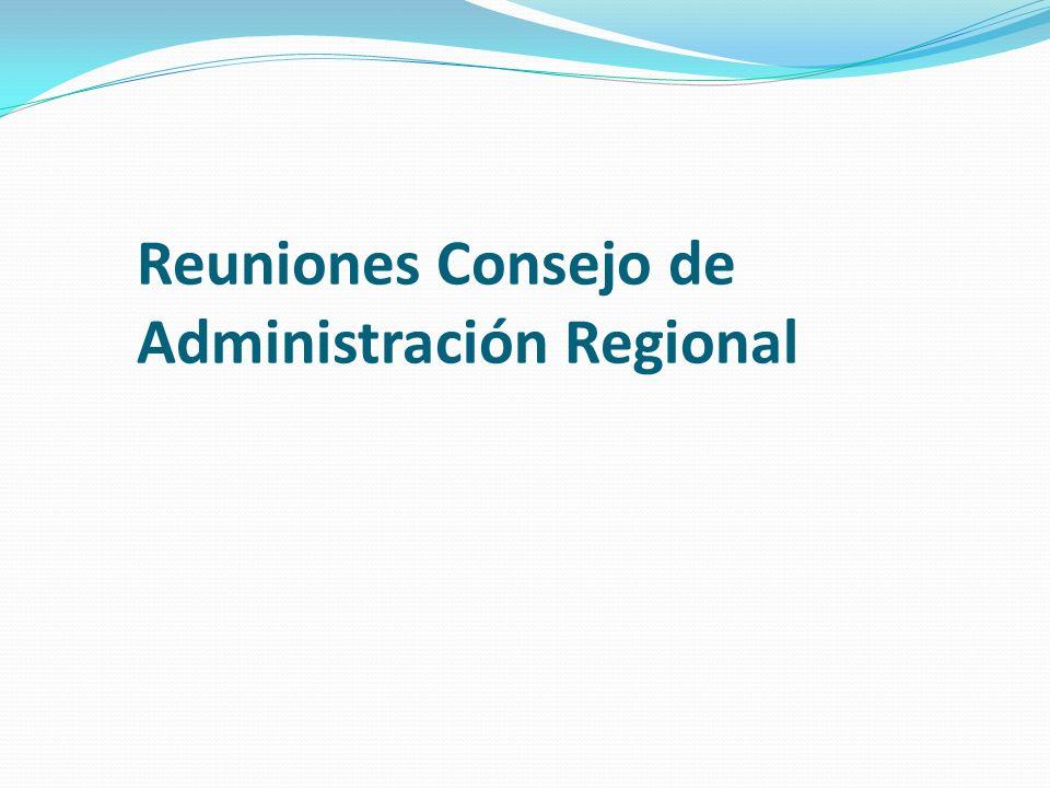 Reuniones Consejo de Administración Regional