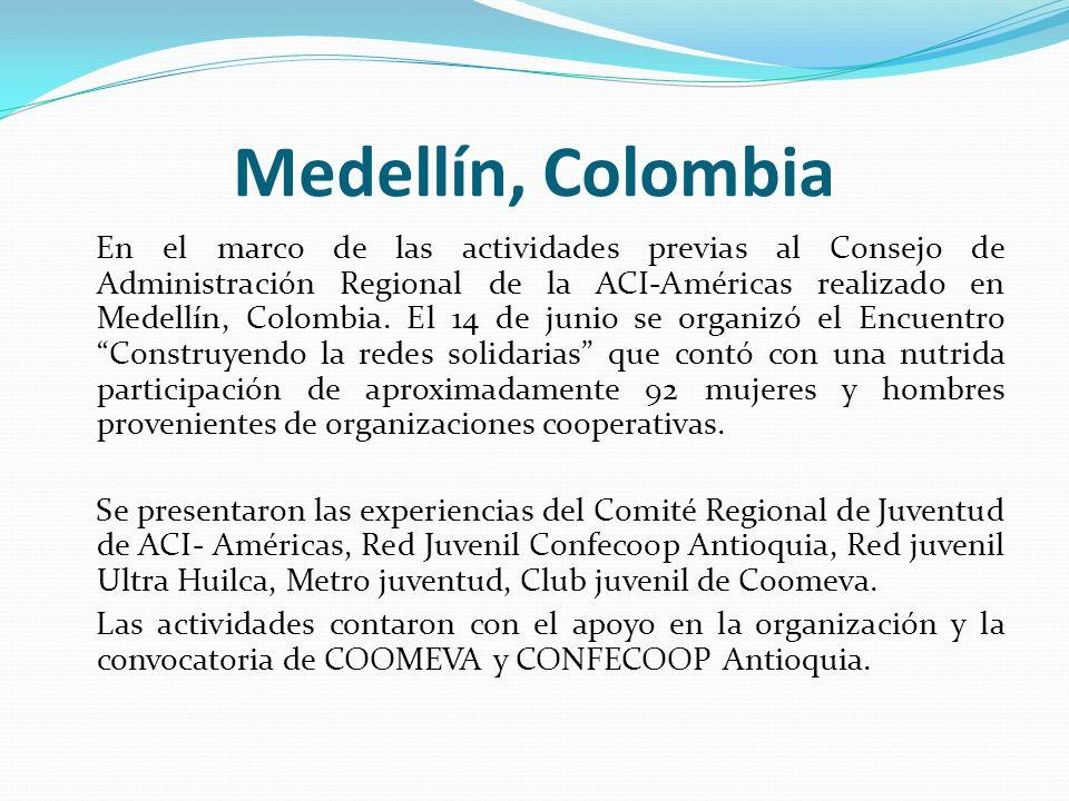 Medellín, Colombia En el marco de las actividades previas al Consejo de Administración Regional de la ACI-Américas realizado en Medellín, Colombia. El