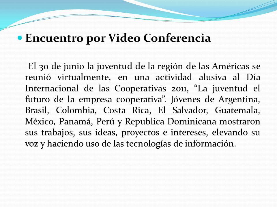Encuentro por Video Conferencia El 30 de junio la juventud de la región de las Américas se reunió virtualmente, en una actividad alusiva al Día Intern