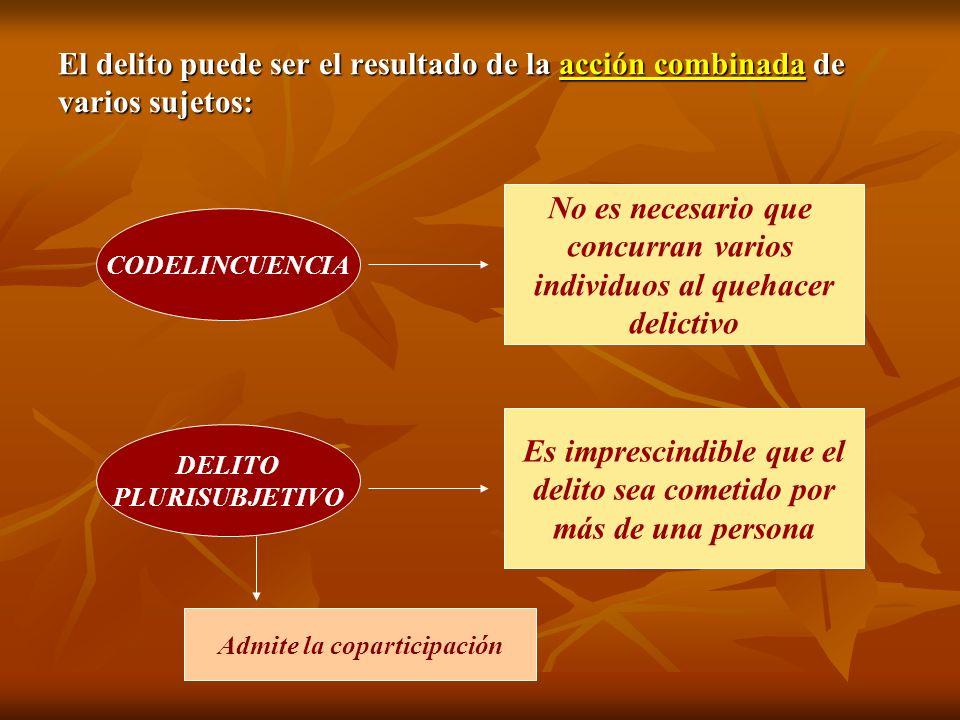 Naturaleza Jurídica: El concurso es accesorio: las conductas de los copartícipes no es independiente de la que realizan entre todos.