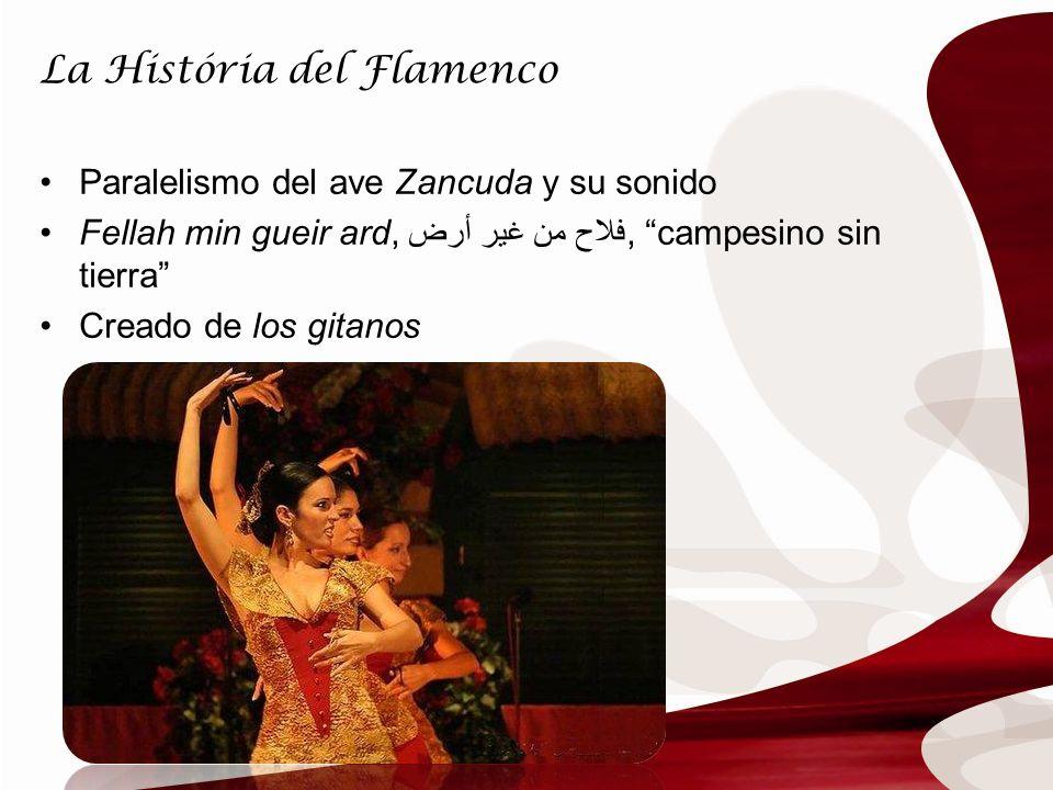 La História del Flamenco Paralelismo del ave Zancuda y su sonido Fellah min gueir ard, أرض فلاح من غير, campesino sin tierra Creado de los gitanos