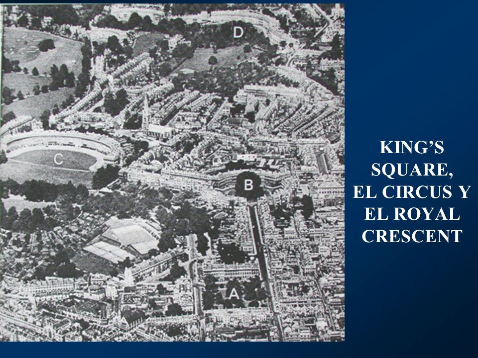KINGS SQUARE, EL CIRCUS Y EL ROYAL CRESCENT