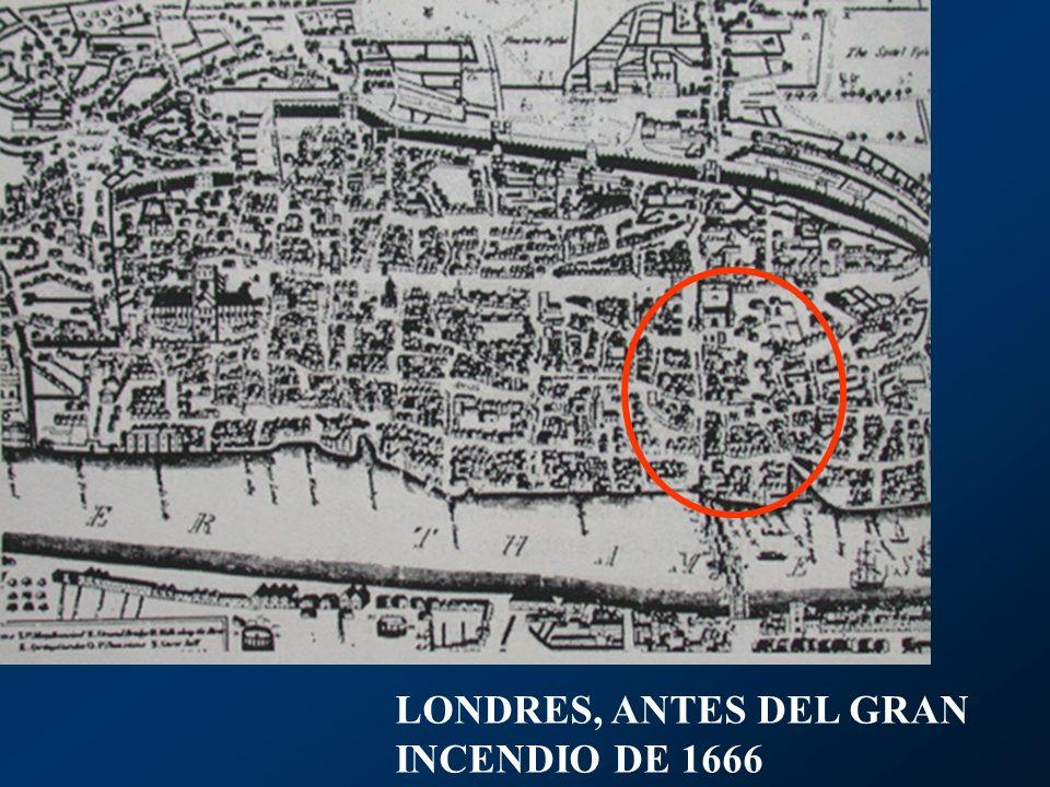 Es el caso de la Plaza Covent Garden (Jardines del Convento) hacia 1660, Bloomsbury Sq.
