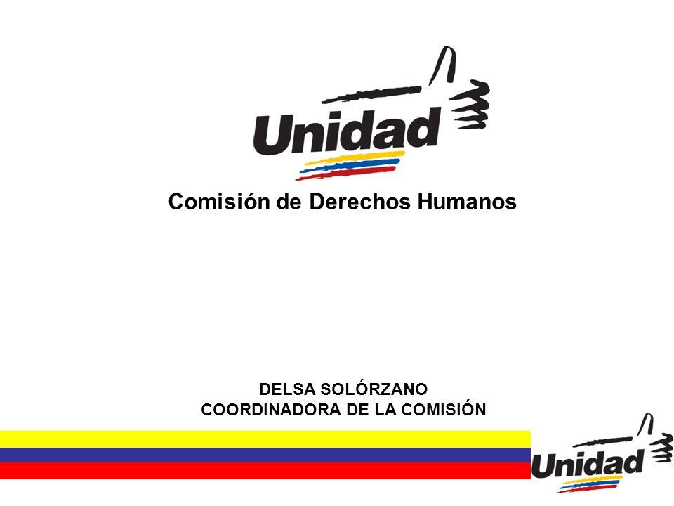 Comisión de Derechos Humanos DELSA SOLÓRZANO COORDINADORA DE LA COMISIÓN