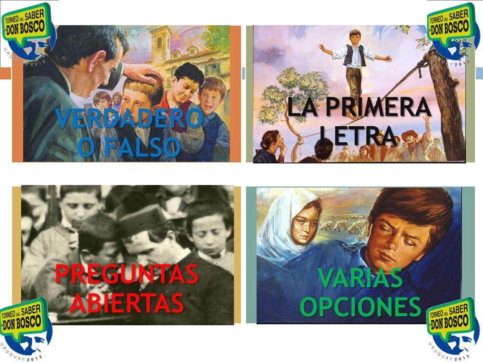 La primera letra Con P: nombre del Sistema que ideó Don Bosco para educar a los jóvenes.