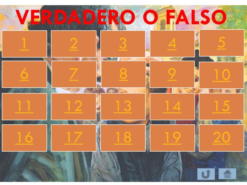 VERDADERO O FALSO 123 4 5 67 8 9 10 1112131415 1617181920