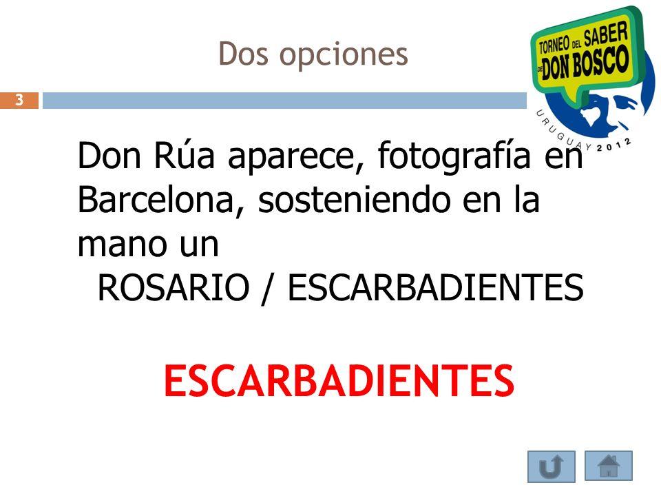 Dos opciones Don Rúa aparece, fotografía en Barcelona, sosteniendo en la mano un ROSARIO / ESCARBADIENTES ESCARBADIENTES 3
