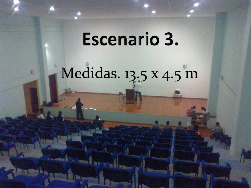 Medidas. 13.5 x 4.5 m