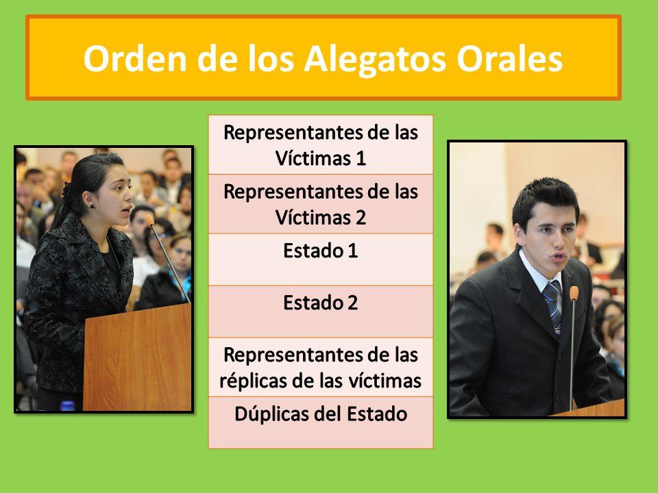 Orden de los Alegatos Orales
