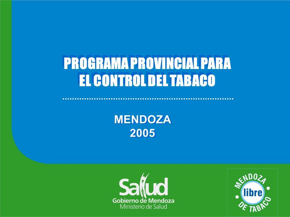 OBJETIVOS General Reducir la morbi- mortalidad atribuible al tabaco en la Provincia.