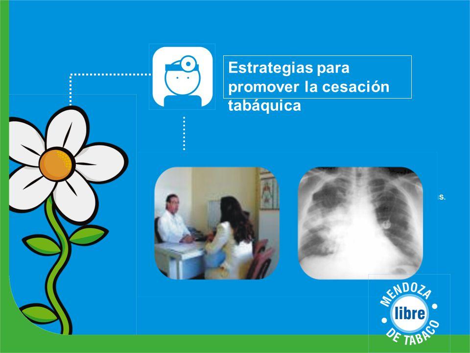 Estrategias para promover la cesación tabáquica Actividades Creación del Programa de Cesación Tabáquica del Hospital Lencinas. Relevamiento de efector