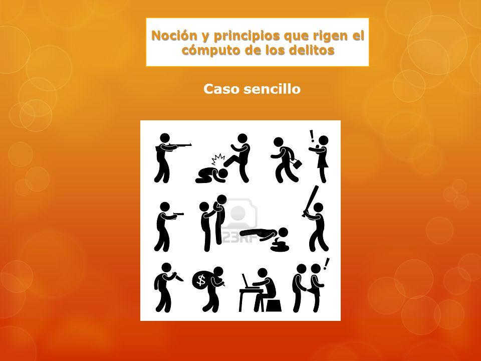 Noción y principios que rigen el cómputo de los delitos Caso sencillo