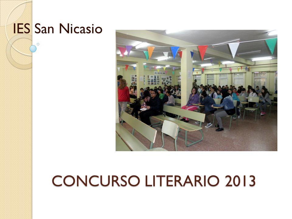 CONCURSO LITERARIO 2013 IES San Nicasio