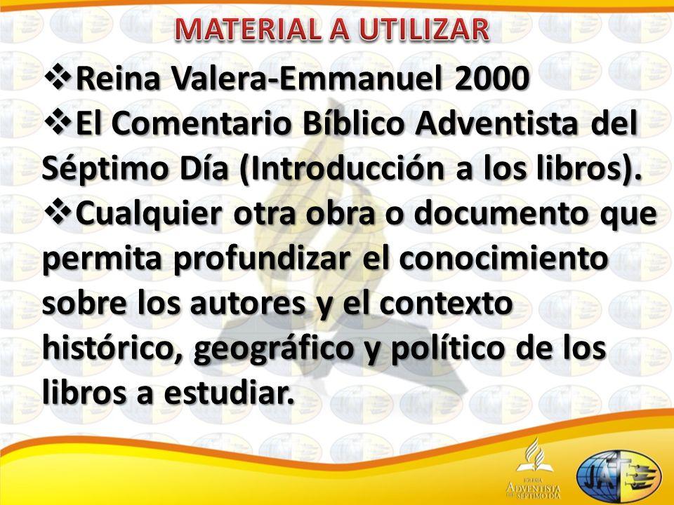 Reina Valera-Emmanuel 2000 Reina Valera-Emmanuel 2000 El Comentario Bíblico Adventista del Séptimo Día (Introducción a los libros).