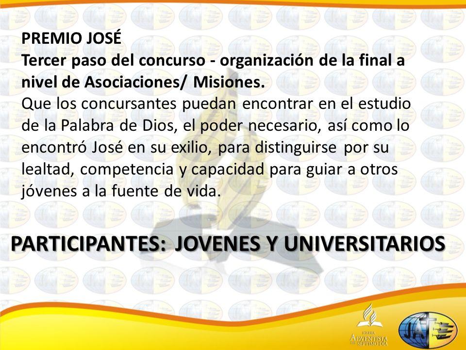 PREMIO MOISÉS Cuarto paso del concurso - organización de la final a nivel Uniones.
