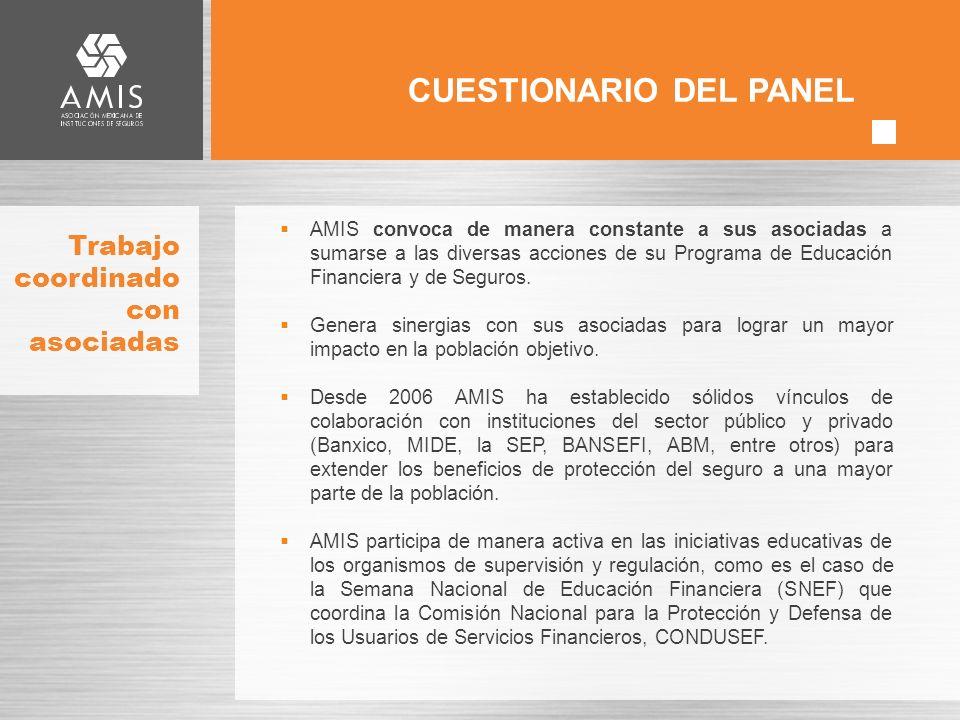 Trabajo coordinado con asociadas AMIS convoca de manera constante a sus asociadas a sumarse a las diversas acciones de su Programa de Educación Financiera y de Seguros.
