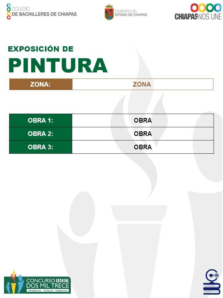 ZONA:ZONA EXPOSICIÓN DE PINTURA OBRA 1:OBRA OBRA 2:OBRA OBRA 3:OBRA
