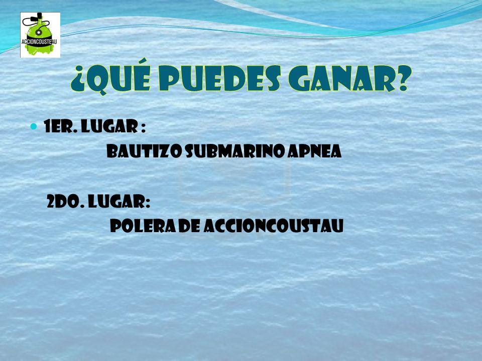 ¡Participa junto a acción cousteau y ayuda a tu planeta!