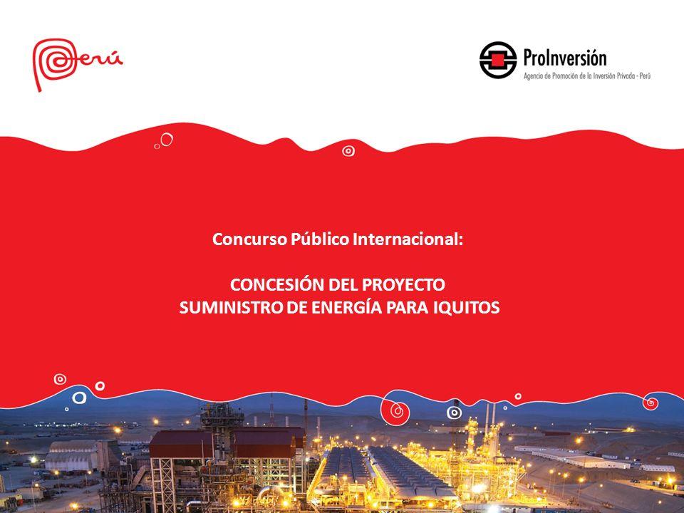 Concurso Público Internacional: CONCESIÓN DEL PROYECTO SUMINISTRO DE ENERGÍA PARA IQUITOS