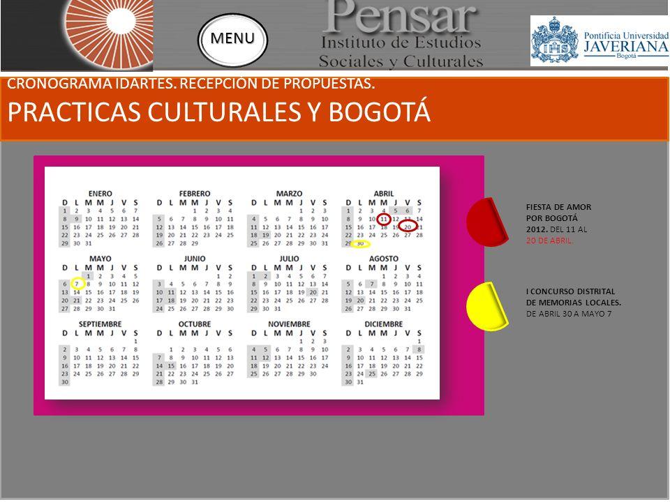 FIESTA DE AMOR POR BOGOTÁ 2012 Lanzamiento de la Convocatoria Marzo 21 Teatro municipal Jorge Eliecer Gaitán - Cra.