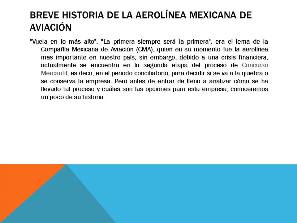 BREVE HISTORIA DE LA AEROLÍNEA MEXICANA DE AVIACIÓN