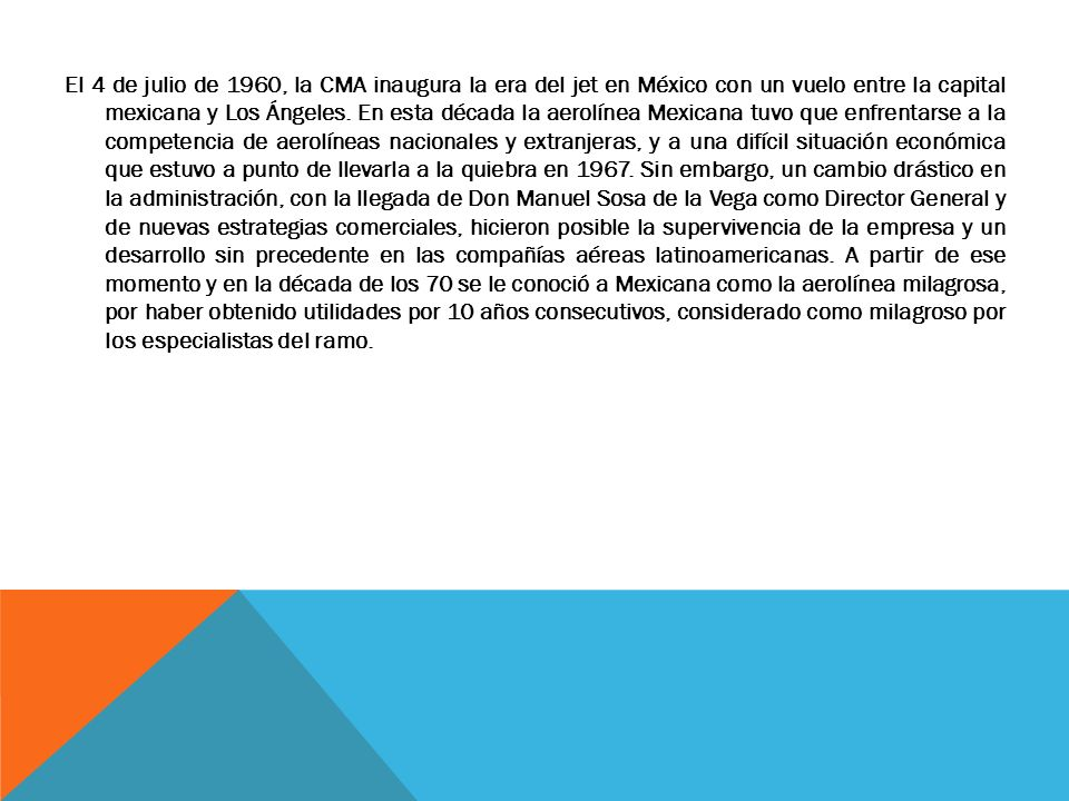 MEXICANA TIENE NUEVO PILOTO FERNANDO PERFECTO BUSCARÁ ACELERAR LA REESTRUCTURA DE LA FIRMA COMO DIRECTOR GENERAL DE NGA; LA SIGUIENTE SEMANA DEFINIRÁ SU PROGRAMA DE ACCIÓN CON ACREEDORES E INVERSIONISTAS DE LA AEROLÍNEA.