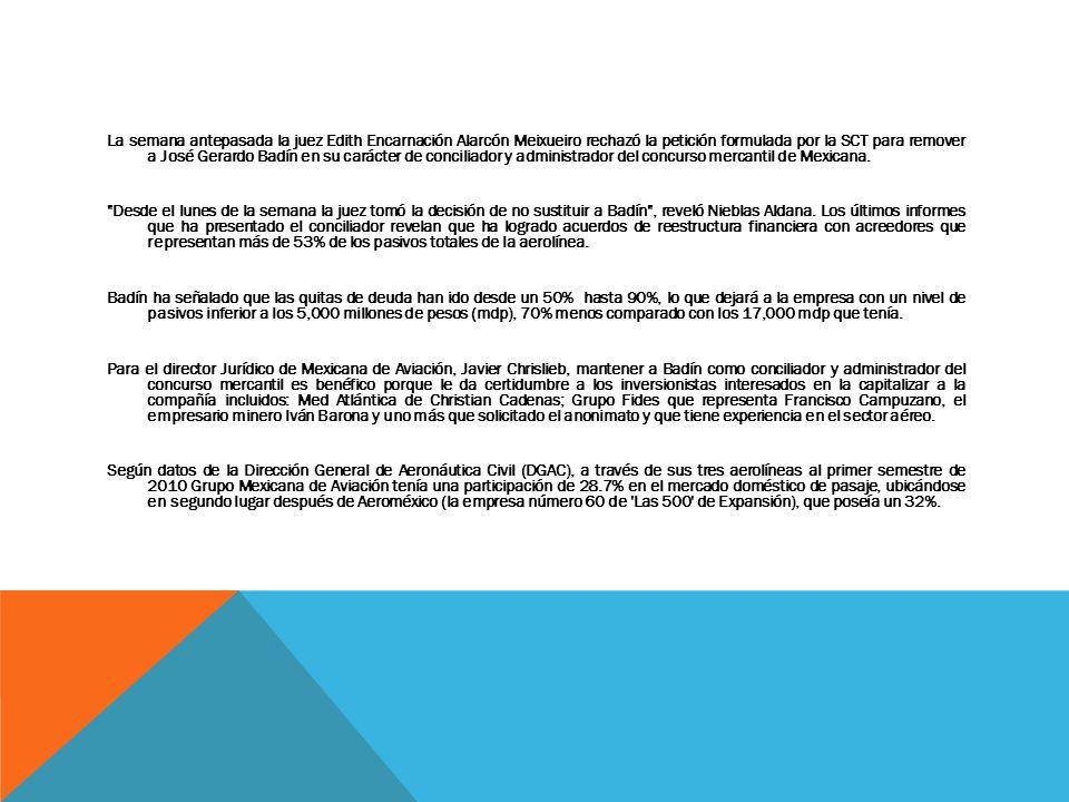 La semana antepasada la juez Edith Encarnación Alarcón Meixueiro rechazó la petición formulada por la SCT para remover a José Gerardo Badín en su cará