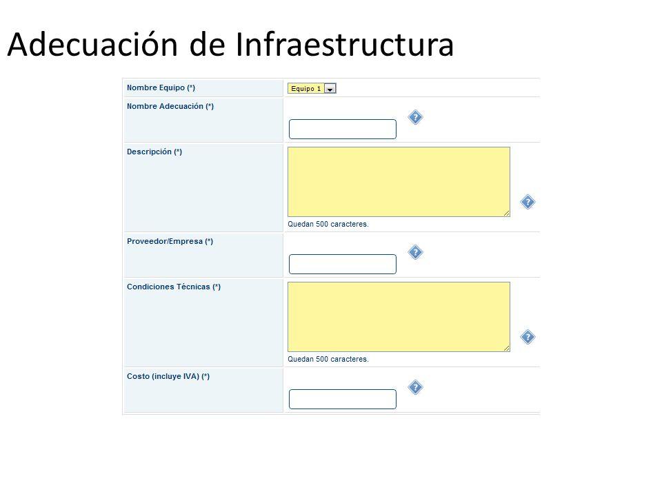 Adecuación de Infraestructura