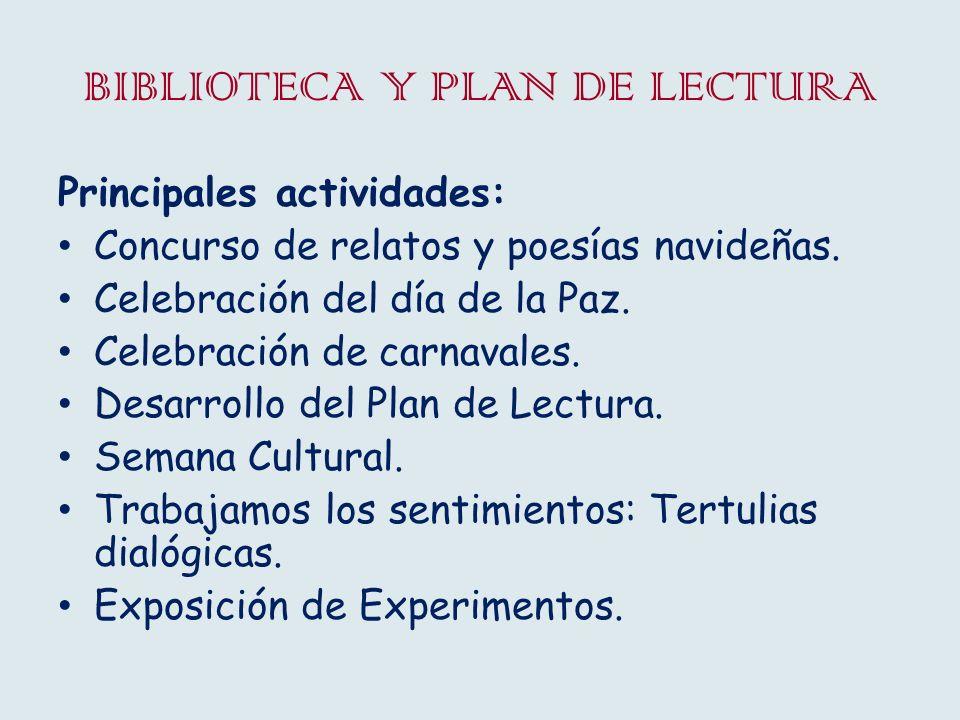BIBLIOTECA Y PLAN DE LECTURA Concurso de relatos y poesías navideñas.