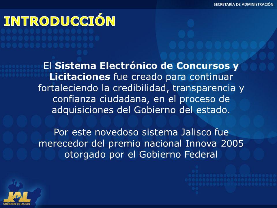 El Sistema Electrónico de Concursos y Licitaciones fue creado para continuar fortaleciendo la credibilidad, transparencia y confianza ciudadana, en el