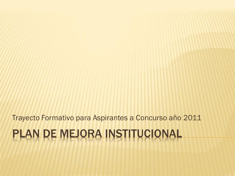 Trayecto Formativo para Aspirantes a Concurso año 2011