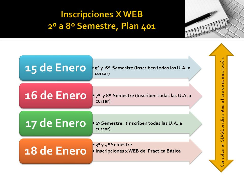 5º y 6º Semestre (Inscriben todas las U.A.