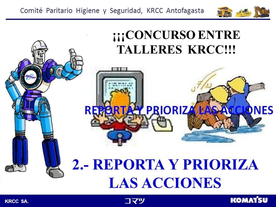 Komatsu Chile S.A.KRCC SA. 3.- SEGREGA CORRECTAMENTE ¡¡¡CONCURSO ENTRE TALLERES KRCC!!.