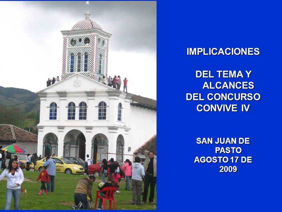 OBJETO DEL CONCURSO ALCANCE DE LAS PROPUESTAS OBJETIVOS DE LAS PROPUESTAS DETERMINANTES PRODUCTO A PRESENTAR IMPLICACIONES