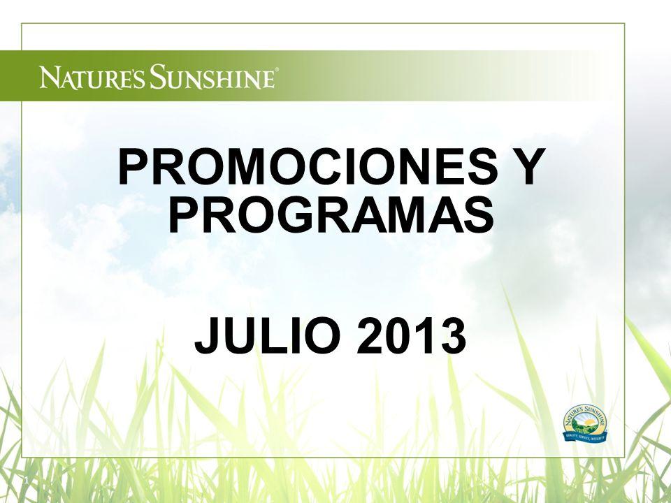 1 PROMOCIONES Y PROGRAMAS JULIO 2013